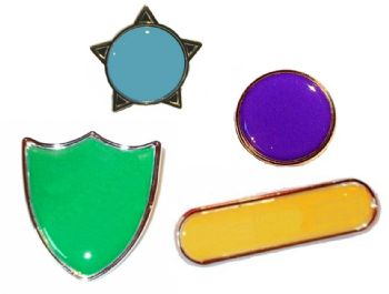 Plain Colour Badges